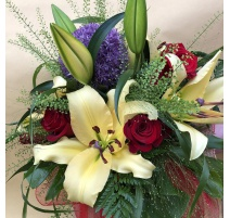 bouquet misti co rose e lilium
