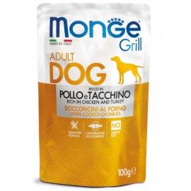 MONGE GRILL POLLO E TACCHINO 100 GR