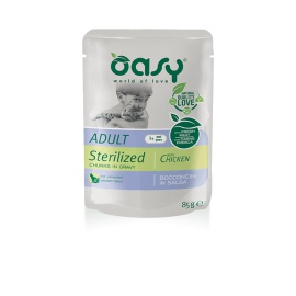 OASY WET CAT BOCCONCINI STERILIZED POLLO 85 GR