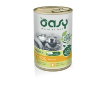 OASY WET DOG ONE PROTEIN MAIALE 400 GR