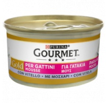 GOURMET MOUSSE VITELLO PER GATTINI 85 GR