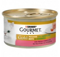 GOURMET GOLD MOUSSE TROTA E POMODORINI 85 GR
