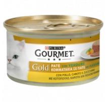 GOURMET GOLD PATE' POLLO CAROTE E ZUCCHINE 85 GR