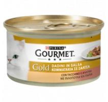 GOURMET GOLD DADINI IN SALSA TACCHINO E ANATRA 85 GR