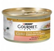 GOURMET GOLD DADINI IN SALSA SALMONE E POLLO 85 GR