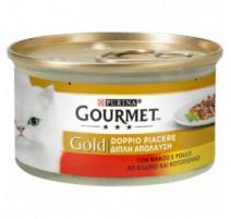 GOURMET GOLD DOPPIO PIACERE MANZO E POLLO 85 GR