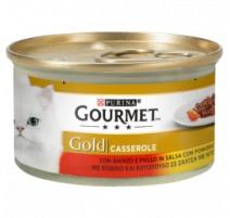 GOURMET GOLD CASSEROLE MANZO E POLLO 85 GR