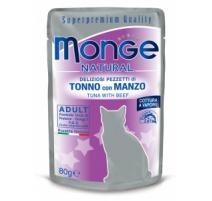 MONGE NATURAL TONNO E MANZO 80 GR