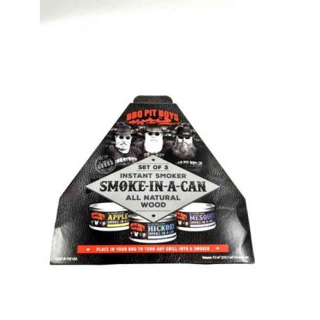INSTANT SMOKER BOX SET 3 PZ BBQ PIT BOYS
