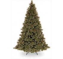 Abete di Natale Brinato con Pigne 225cm