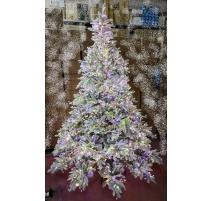 """Abete di Natale con LED Innevato, """"Andorra"""" 225cm"""