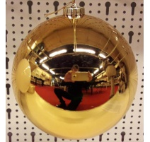 Palline di Natale, Sfera di Plastica 15Cm ORO