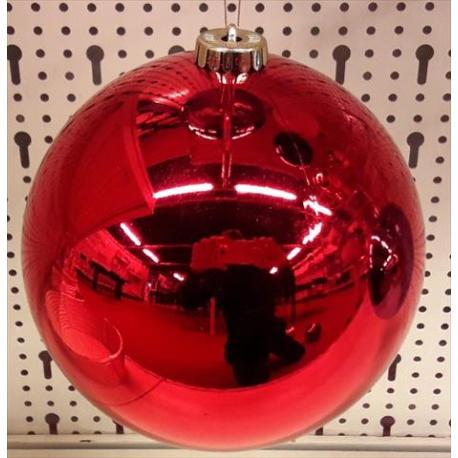 Palline Di Natale.Palline Di Natale Sfera Di Plastica 20cm Rosso Eshop Bardin Gardencenter