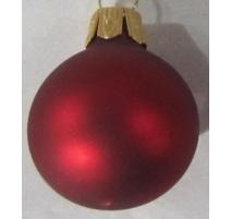 Pallina di Natale, Sfera di Vetro, 6 Cm, Bordeaux Opaco