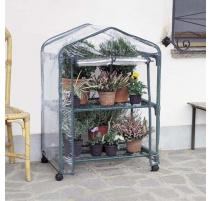 serra da giardino azalea 2 ripiani con ruote 70x50xh92