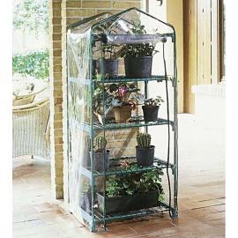 serra da giardino azalea 4 ripiani 70x50x158 GRIGIA