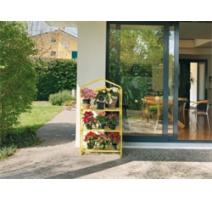 serra da giardino azalea 3 ripiani gialla