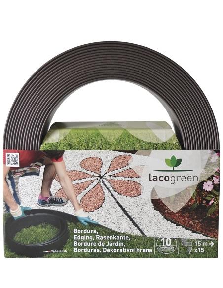 bordura lacogreen 120mmx5mt nero