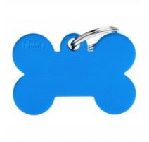 Medaglietta collezione Basic Osso Grande Blu in Alluminio