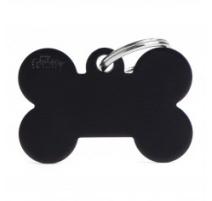Medaglietta collezione Basic Osso Piccolo Nero in Alluminio